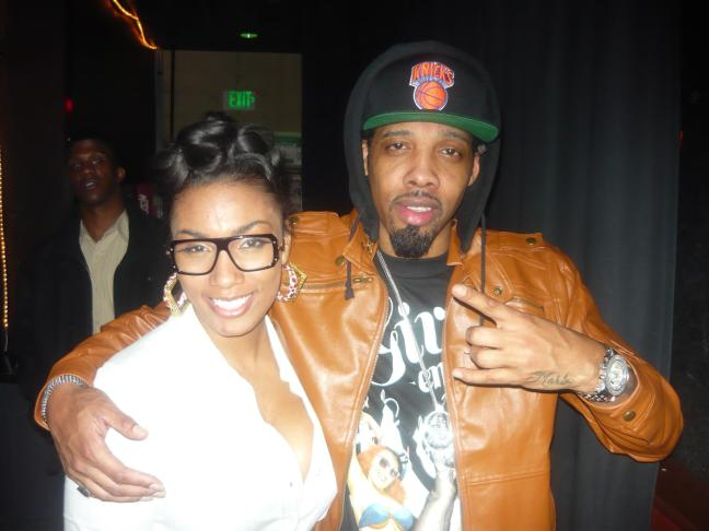 D.Jay Da Queen with Recording Artist Chevy Woods